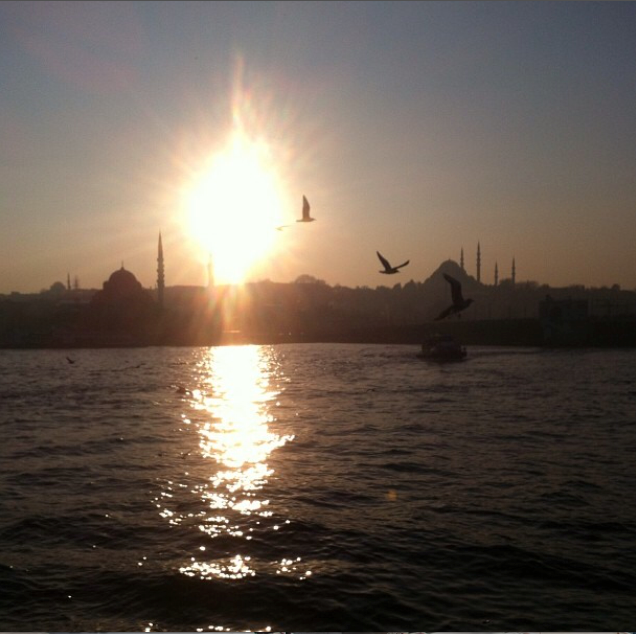 Istanbul ferry view